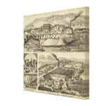 Residence and saw mill of Susan Harpold Canvas Print