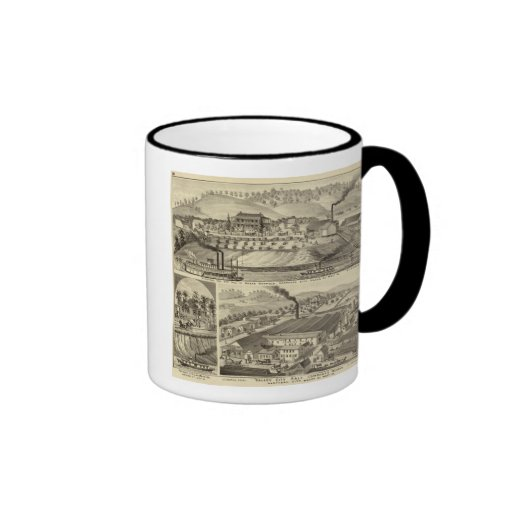 Residence and saw mill of Susan Harpold Mugs