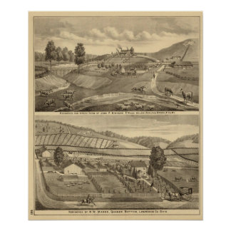Residence and stock farm print
