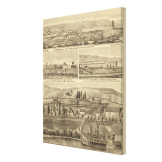 Residence and store of William M Roberts Canvas Print