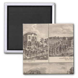 Residence and Western College in Marshalltown Refrigerator Magnet