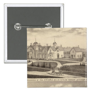 Residence, barn & outbuildings of AR Earle Pinback Button