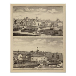Residence, barn & outbuildings of AR Earle Poster