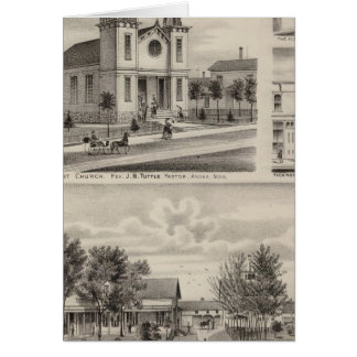 Residence, Farm, Church and Store in Minnesota Card