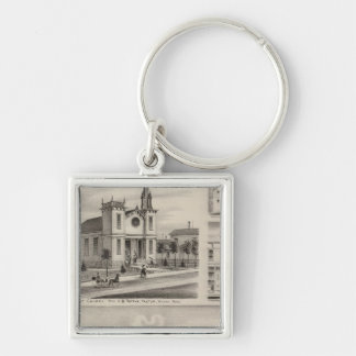 Residence, Farm, Church and Store in Minnesota Keychain