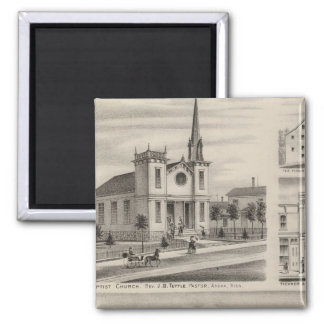 Residence, Farm, Church and Store in Minnesota Magnet
