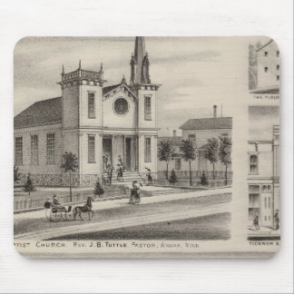 Residence, Farm, Church and Store in Minnesota Mouse Pad