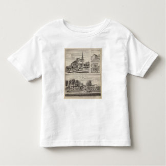 Residence, Farm, Church and Store in Minnesota Toddler T-shirt