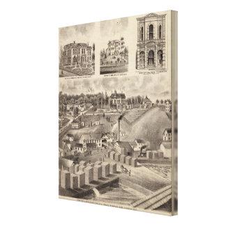 Residence, Lumberyard and Mills, Minnesota Canvas Print
