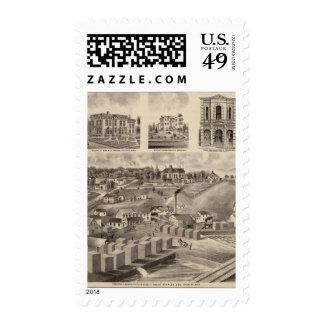 Residence, Lumberyard and Mills, Minnesota Stamp