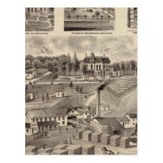 Residence, Lumberyard and Mills, Minnesota Postcard