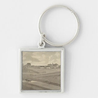 Residence, Minnesota Silver-Colored Square Keychain