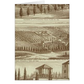 Residence, nursery, stable, Visalia, Cal Cards