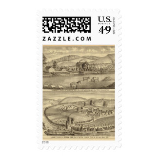 Residence of Alfred A Douglass Postage Stamp