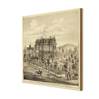 Residence of AM Brown Canvas Print