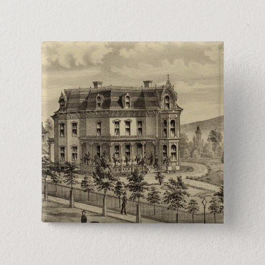 Residence of AM Brown Pinback Button