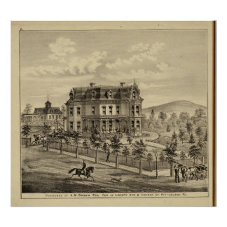 Residence of AM Brown Print