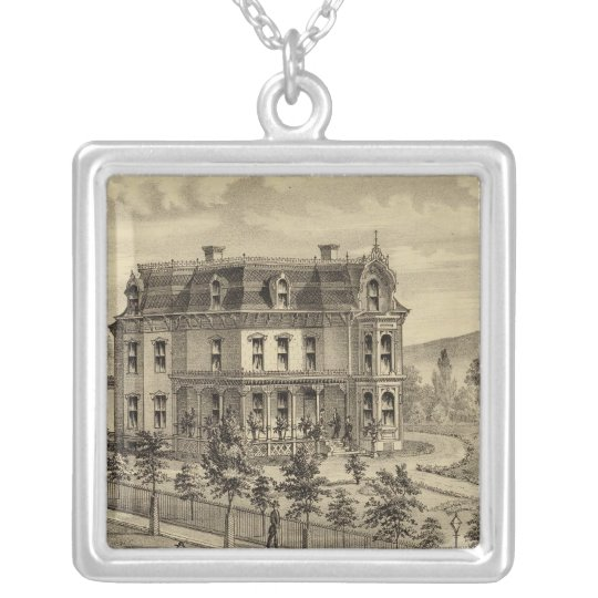 Residence of AM Brown Silver Plated Necklace