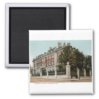 Residence of Andrew Carnegie, New York 2 Inch Square Magnet