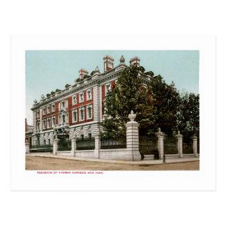 Residence of Andrew Carnegie, New York Postcard