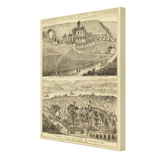 Residence of Andrew Lindsey Glenfield Canvas Print