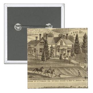 Residence of AP Howard Hancock Pinback Button