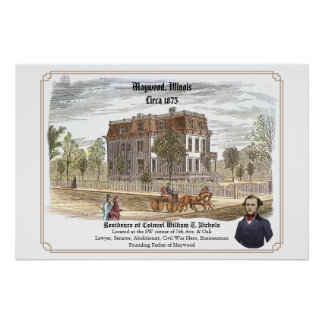 Residence of Colonel W. T. Nichols Poster
