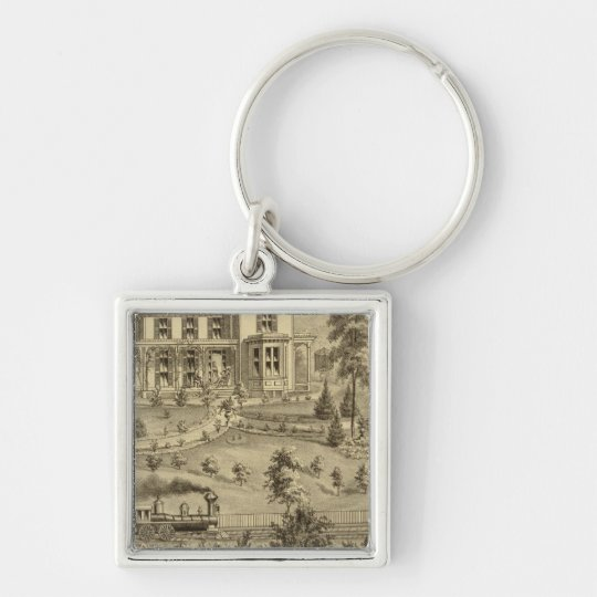 Residence of David R Kerr Keychain