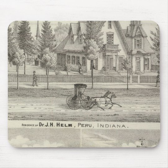 Residence of Dr JH Helm, Peru Mouse Pad