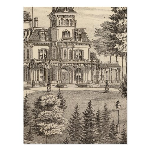 Residence of Genl HH Baxter in Rutland Vermont Post Cards