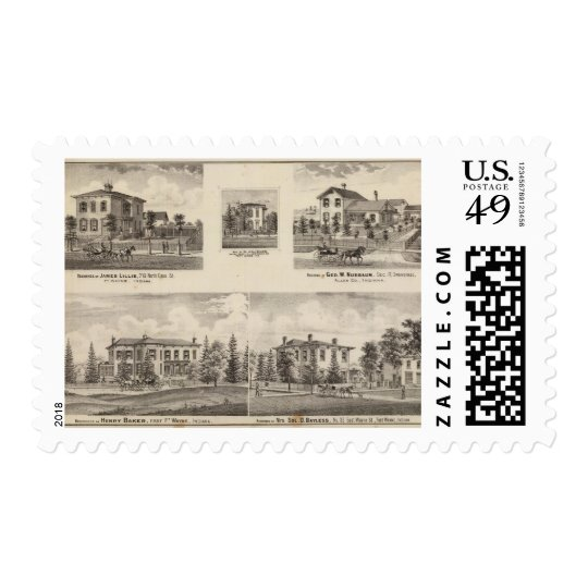 Residence of Henry Baker and others Postage