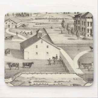 Residence of James Gaines Mouse Pad