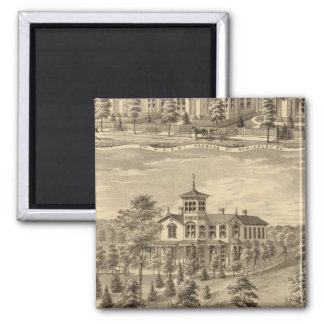 Residence of Jehu P Smith, Sewickley 2 Inch Square Magnet