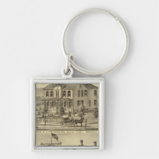 Residence of JH McCreery Sewickly Keychain