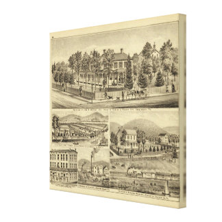 Residence of John A Warden Sewickley Canvas Print