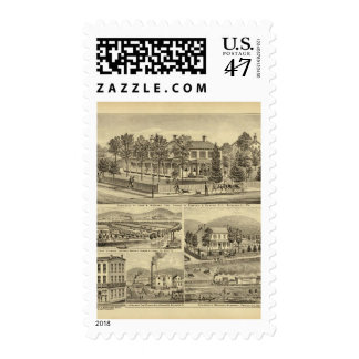 Residence of John A Warden Sewickley Postage Stamp