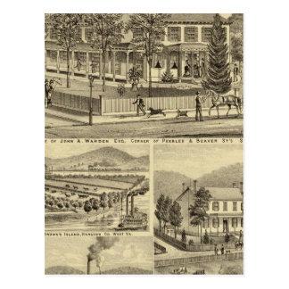 Residence of John A Warden Sewickley Postcard