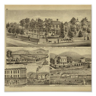 Residence of John A Warden Sewickley Poster