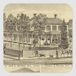 Residence of John A Warden Sewickley Square Sticker