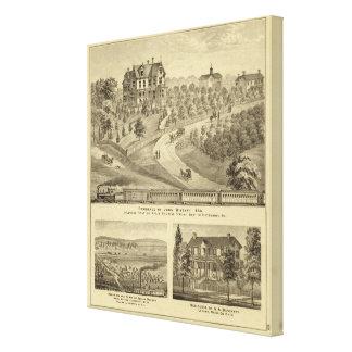 Residence of John Biggert, Idlewood Station Canvas Print