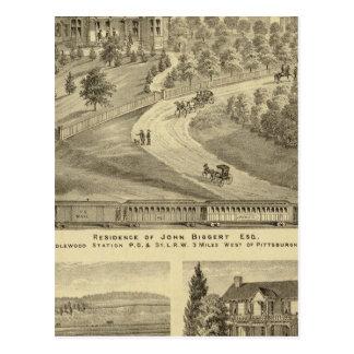 Residence of John Biggert, Idlewood Station Postcard