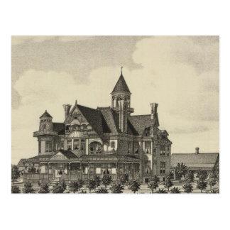 Residence of John D Knox, Topeka, Kansas Postcard