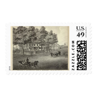 Residence of John S Rogers in Manasquan, NJ Postage