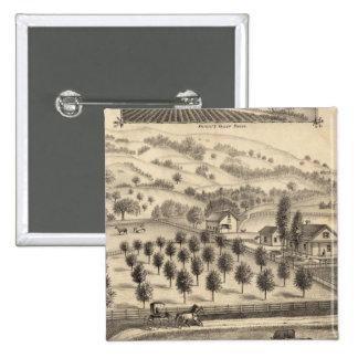 Residence of Joseph Alexander, Mendocino Pinback Button