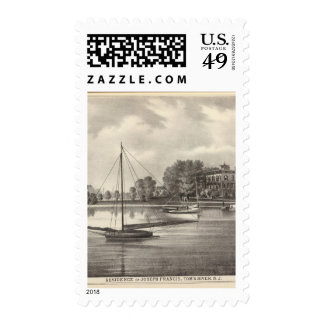 Residence of Joseph Francis, Tom's River, NJ Postage Stamps
