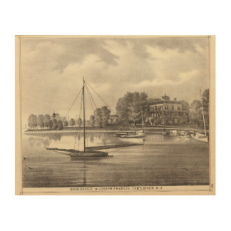 Residence of Joseph Francis, Tom's River, NJ Wood Print