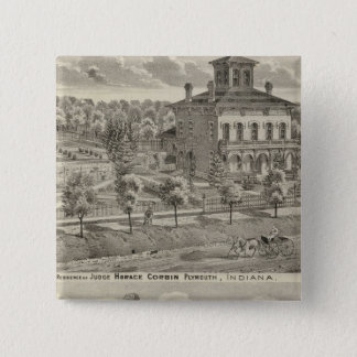Residence of Judge Horace Corbin Pinback Button