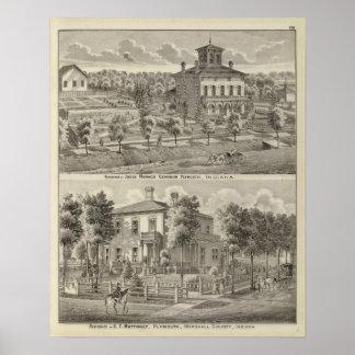 Residence of Judge Horace Corbin Poster
