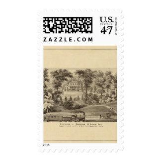 Residence of Marshall McDonald Postage