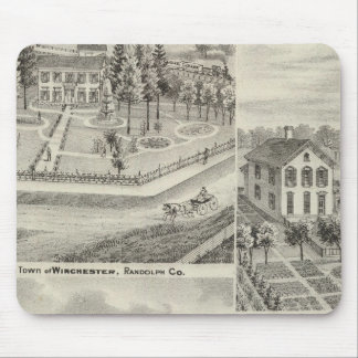 Residence of Milton Thornburgh Fayette Co Mouse Pad